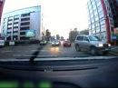 Погоня полиции за пьяным кондитером на Toyota Mark II Police chase after her drunken pastry