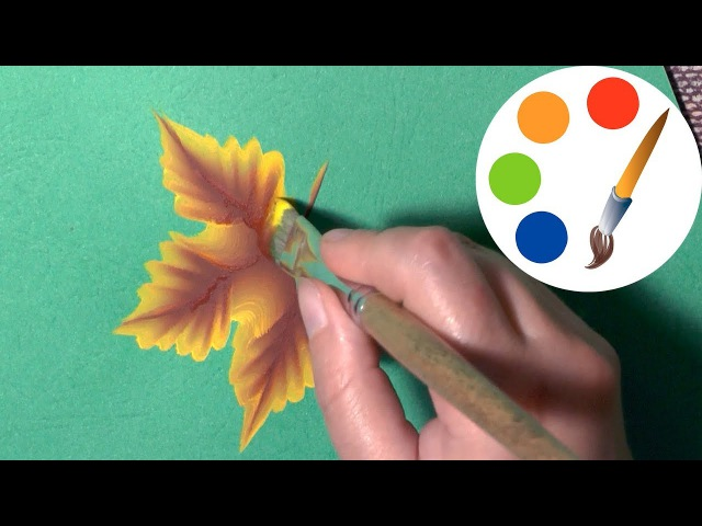 🍀🍃🌿The secret of the One Stroke, How to paint leaves, 🍀🍃🌿 One Stroke for beginners, irishkalia