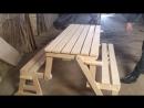 Скамейка - стол - трансформер