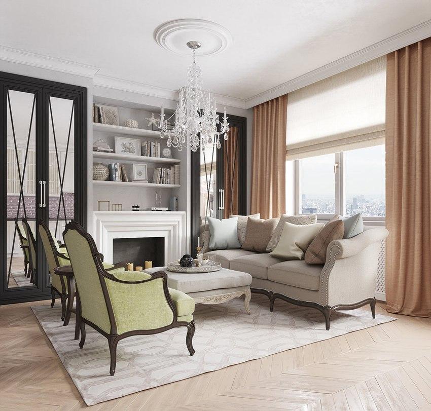 Проект квартиры-студии 35,5 м.