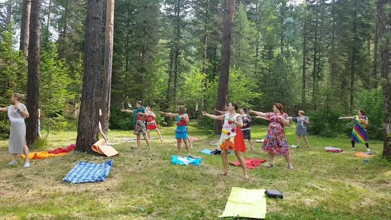 Второе дыхание, женский тренинг на Телецком озере, практика
