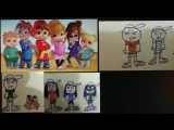Super Stars (Wlad and Tima &amp friends(Alvin and the chipmunks) odd parents and the loud house