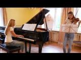 Девушки сыграли саундтрек к Ghostbusters на пианино и скрипке piano and violin cover