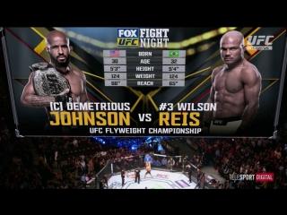 UFC FOX 24 Деметриус Джонсон vs Уилсон Рейс обзор боя