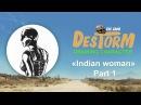 Рисование персонажа Индейская женщина . Часть1. Wacom