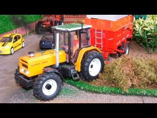 Bagger Kinderfilm deutsch - Der Gelbe Traktor - Lernen und bauen - Cartoon für Kinder