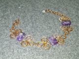 Simple wire bracelet with amethyst - How to make wire jewelry 180