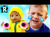 Bad Baby ЗЛАЯ КУКЛА Беби Бон Украла Глаза Ромы! Evil Doll Baby Born STOLE Bad Baby Eyes