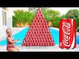 Кока Кола Челлендж! Джокер Против Русалки! CRAZY Pool COCA COLA CHELLENGE! Видео для Детей