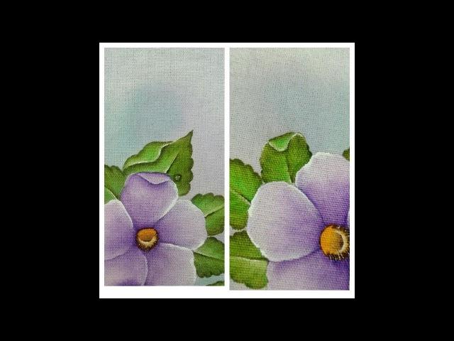 Aprenda a pintar folha virada (dobrada) em tecidos de maneira simples e muito fácil - parte 2