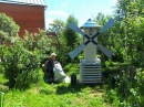 Любимые поделки наших дачников во дворе Как украсить двор