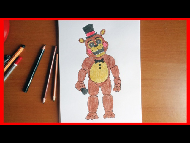 How to draw Toy Freddy Five Nights at Freddy's characters