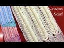 Bufanda chalina en punto espigas de trigo en relieve tejido a crochet tallermanualperu