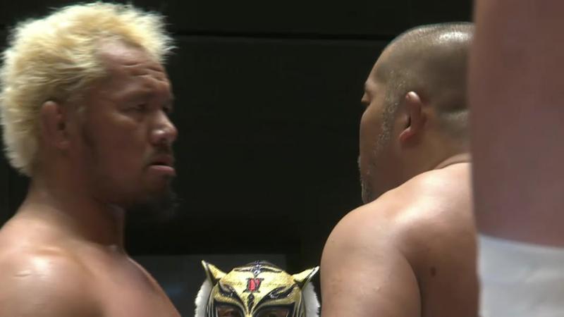 Hirooki Goto, Tomohiro Ishii, Gedo vs. Togi Makabe, Yuji Nagata, Tiger Mask (NJPW - G1 CLIMAX 27 - Day 2)