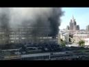 Пожар в доме-книжке на Новом Арбате: главное за 60 секунд