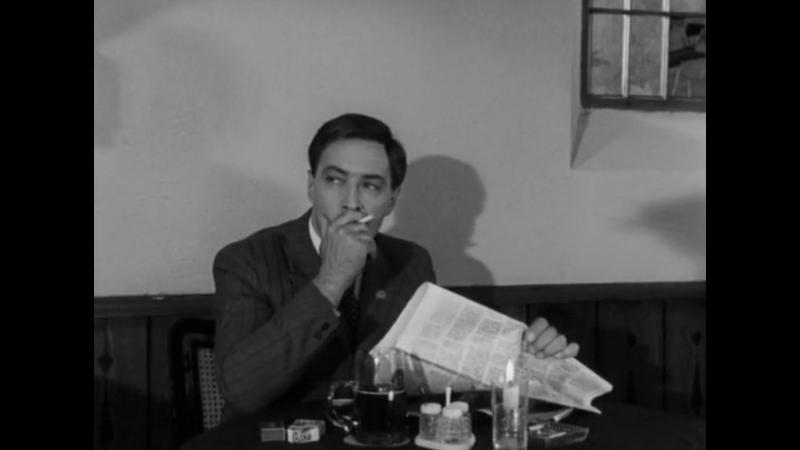 Двое в кафе - фрагмент из телефильма Семнадцать мгновений весны (1973)