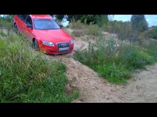 = Песок, река и крутой подъём на Audi A6 C6 allroad quattro =