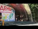 Выступление ставропольских гимнасток. Парк Победы. День физкультурника