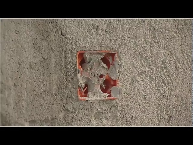 Монтаж выключателей и розеток в облицованные бетонные стены