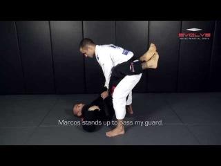 BJJ: UFC Leandro Issa Knee Bar From Closed Guard | Evolve University