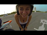 EPIC MOTORCYCLE FUNNY, FAIL & SCARED Girl on Sportbike 2016