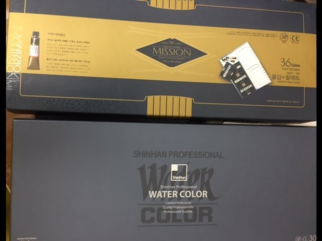 Misson Gold VS. ShinHan Watercolors-Color Swatches