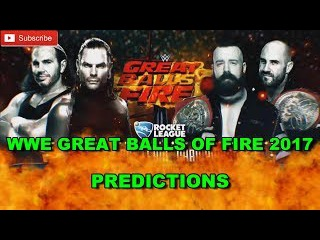 WWE Great Balls Of Fire 2017 Raw Tag Team Championship Cesaro & Sheamus vs. The Hardy Boyz WWE 2K17