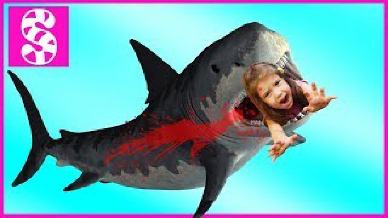 АКУЛА НАПАЛА на Bad Baby 😭 Вредные детки Акула атакует 😡 Нерф война. Attack Shark in the house