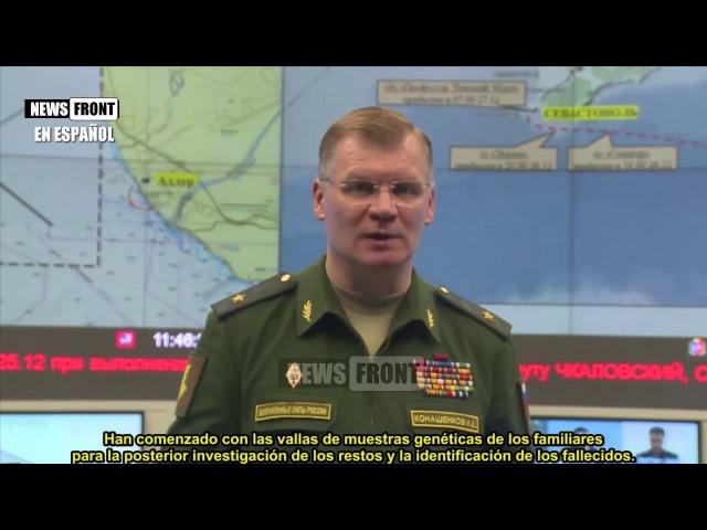 Informe del Ministerio de Defensa de Rusia sobre la situación del accidente del avión TU-154-12:00