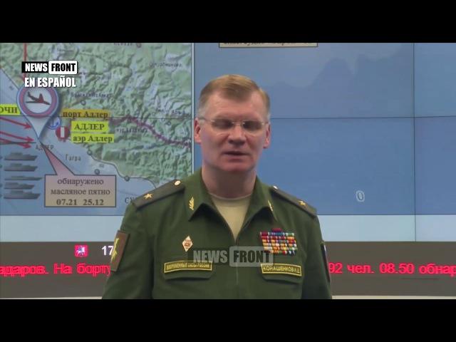 Informe del Ministerio de Defensa de Rusia sobre la situación del accidente del avión TU-154