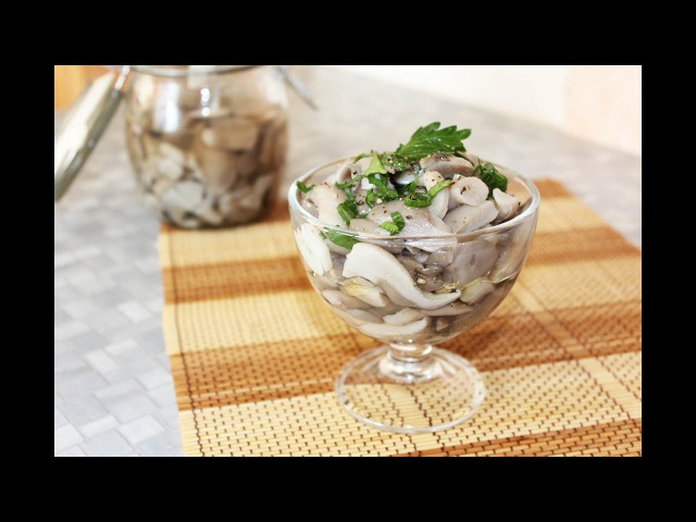 Вешенки соленые Рецепт вкусной и быстрой грибной закуски