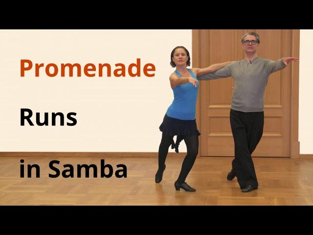 Samba from Whisk to Promenade To Counter Promenade Runs / Latin Dance