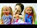 Видео для девочек. Как уложить спать младшую сестренку Играем в куклы