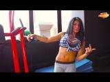 Дарья Наваррская (Россия) - красивая фитнес-бикини модель. Тренировка в фитнес зале. Рекомендую!