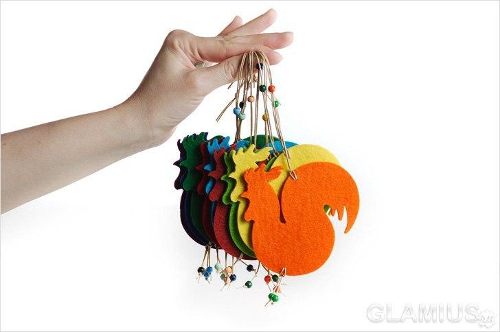 Ёлочная игрушка своими руками петушок
