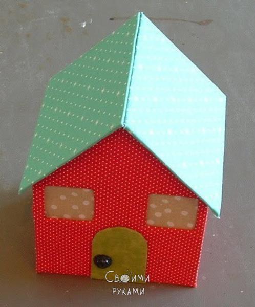 Дом из картона поделка