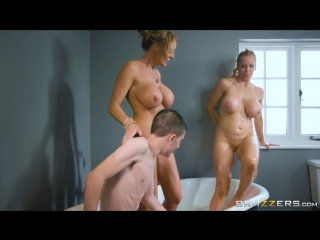 Men playing with big tits