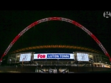 Wembley arch lit up in team colours to mark 10th anniversary