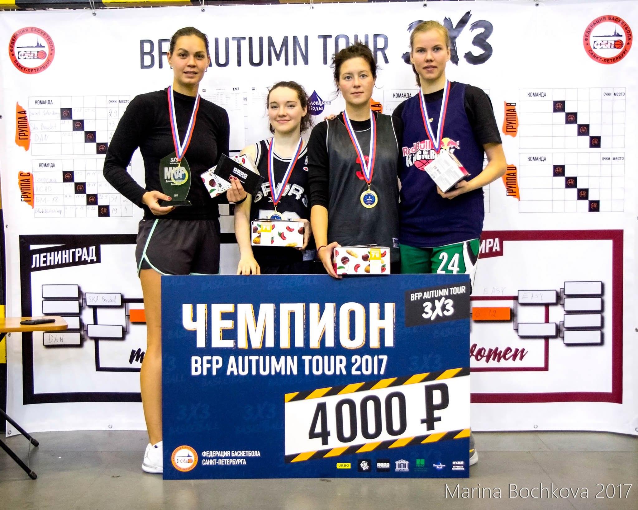 Татьяна Южакова - MVP Дивизиона «Северная пальмира» BFP Autumn Tour 3x3