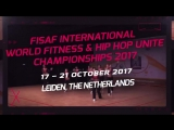 FISAF International World Fitness & HIP HOP UNITE Championships 2017 Announcement