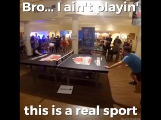 Настольный теннис футбольным мячом