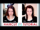 Hairstyle female for long hair with a shortened crown (женская стрижка с укороченным теменем)