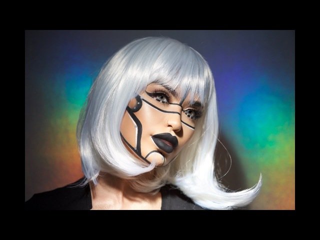 Bicentennial Robot Halloween Makeup | iluvsarahii