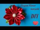 Элегантный цветок канзаши на гребне / Elegant Flower kanzashi on the crest. Hand made