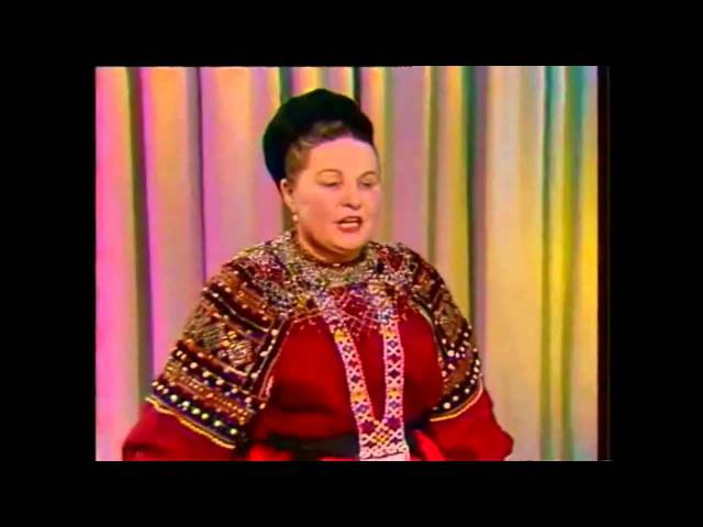 Поет Мария Мордасова 1977 Russian folk songs частушки