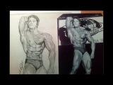 Gradual drawing Arnold Schwarzeneger