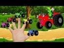 Песни для детей - Едет трактор - Барбоскины - Мультик про машинки - Семья пальчиков
