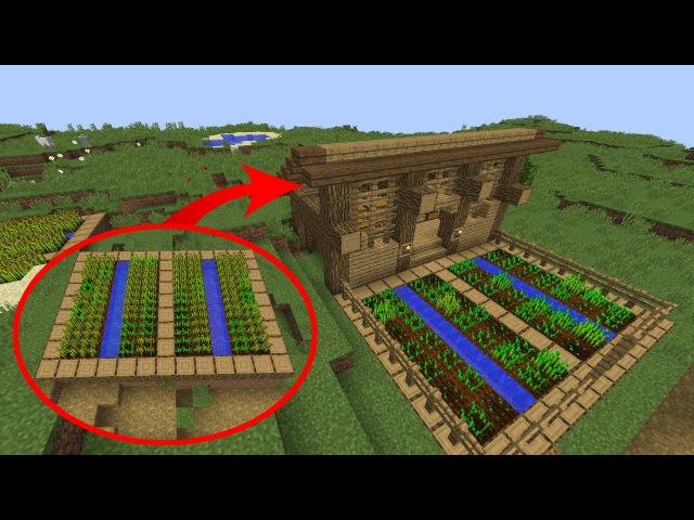 Как улучшить большую деревенскую ферму в Майнкрафте. Трансформируем деревню Minec...