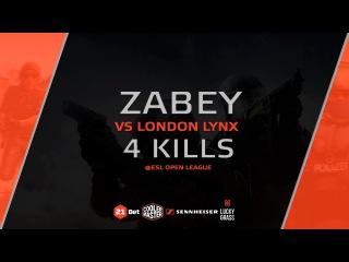 Quad-kill by Zabey vs. London LYNX @ESL Open League