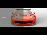 Сравнение HDR и SDR в Gran Turismo Sport на телевизорах.